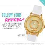 Origami Owl July 2017 Join Gift Gold Watch