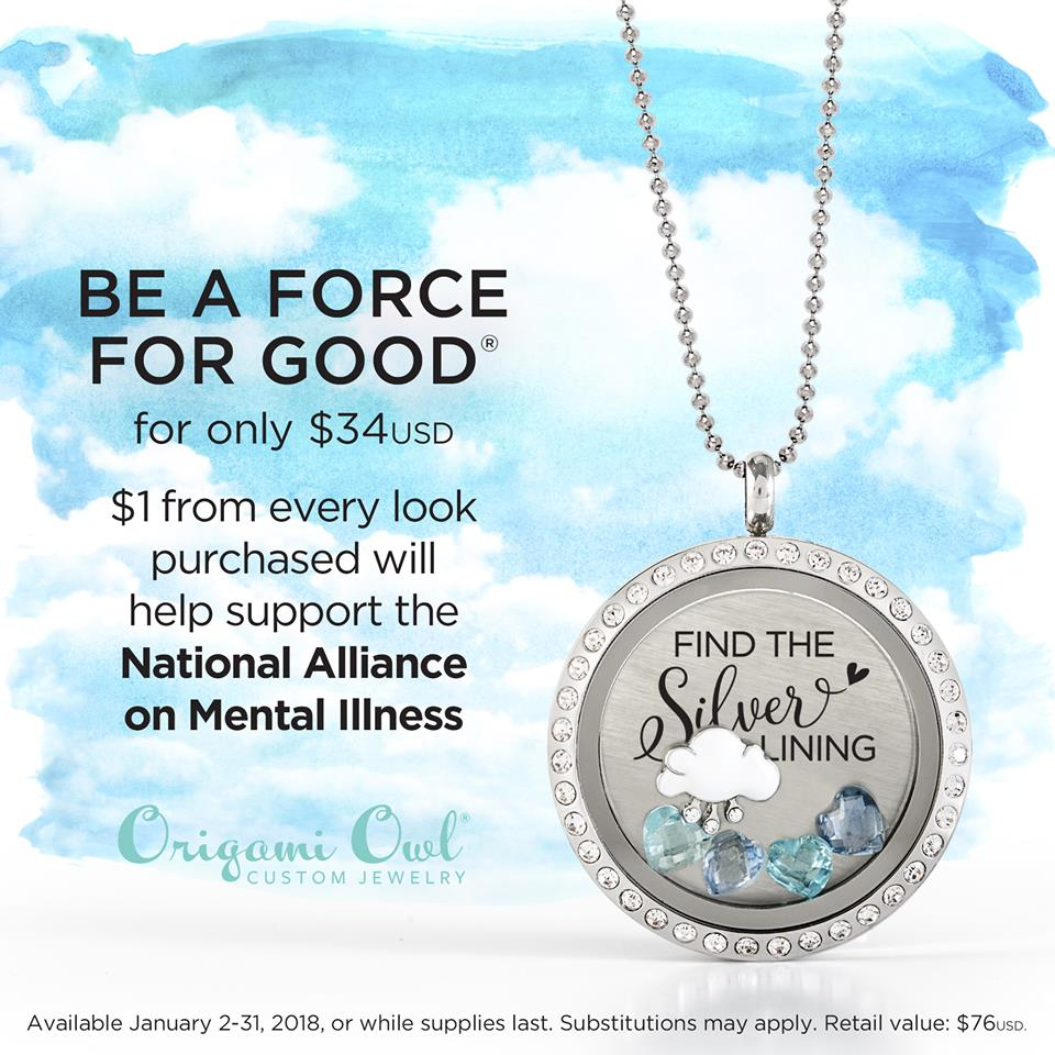Origami Owl January Force For Good Locket Find The Silver Lining