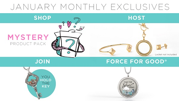 Origami Owl January Monthly Exclusives Locket Loaded With Charm