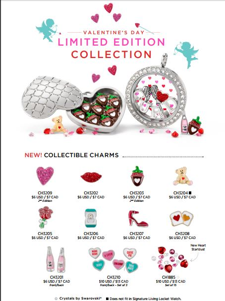 Origami Owl Valentines Day Collection 2018