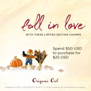 Origami Owl September 2018 Customer Shopping Special