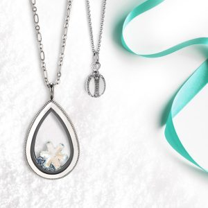 Exclusive Winter Wonderland Teardrop Living Locket Set